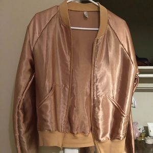 Gold Unisex American Apparel Jacket